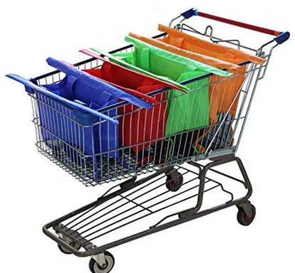 Modern Day Living Reusable Shopping Cart Bags (Set Of 4)