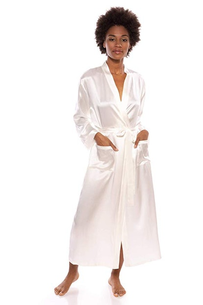 TexereSilk Women's 100% Long Silk Robe