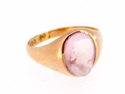 9 Carat Gold Cameo Dress Ring