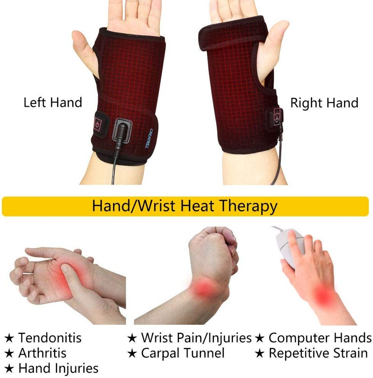 Creatrill Hand and Wrist Heated Wrap