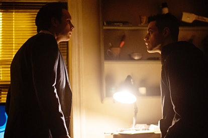 Martin Wallström as Tyrell Wellick and Rami Malek as Elliot Alderson in Mr. Robot