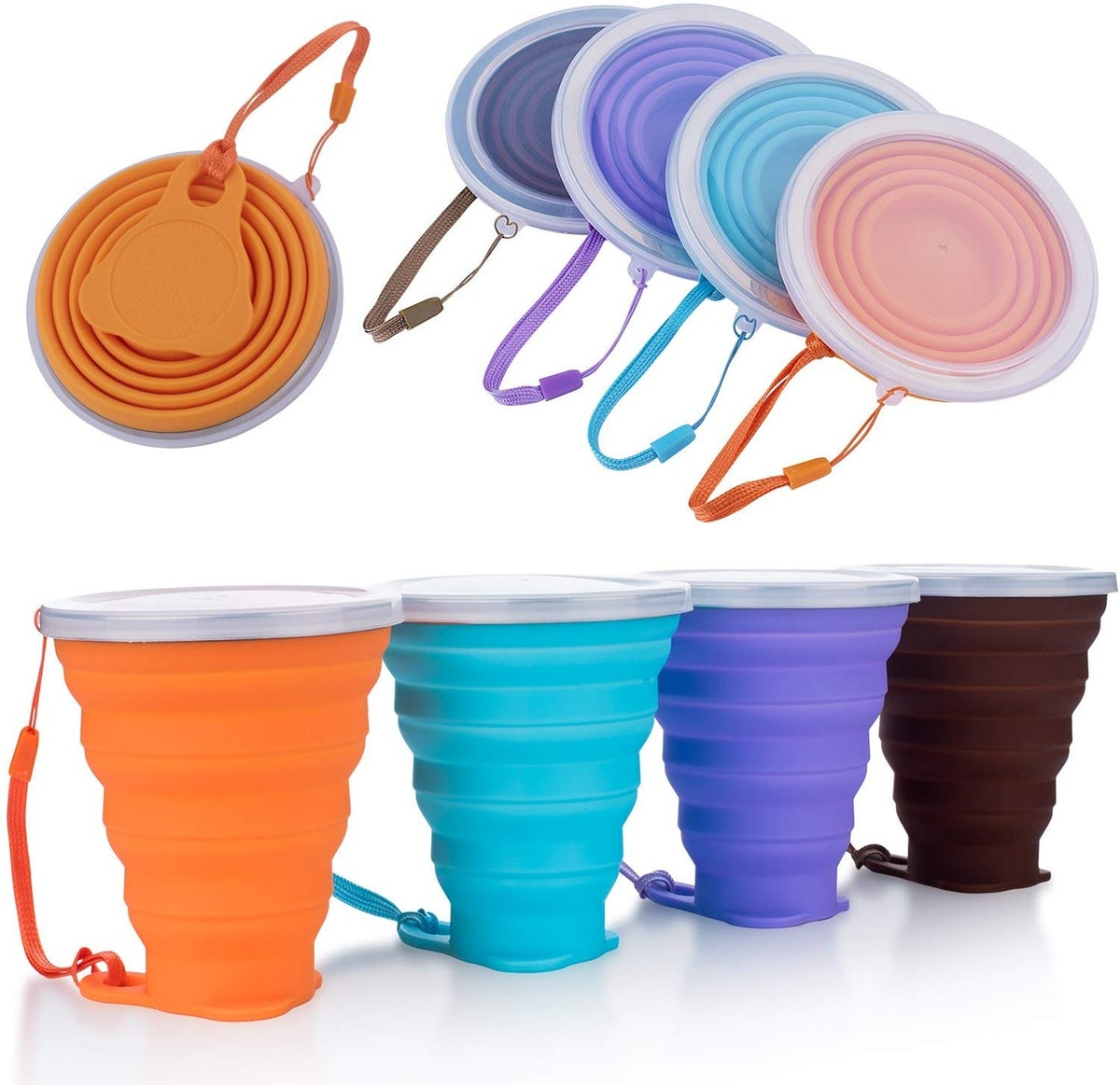 ME.FAN Silicone Collapsible Travel Cups (Set Of 4)