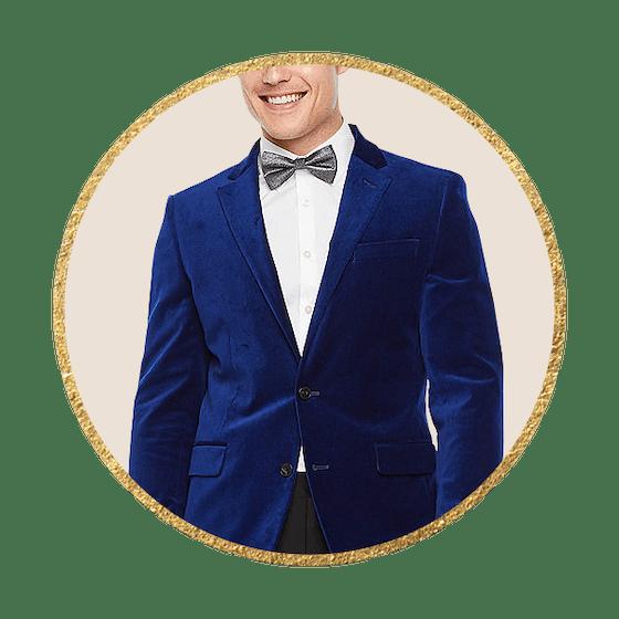 JF J.Ferrar Mens Slim Fit Velvet Sport Coat