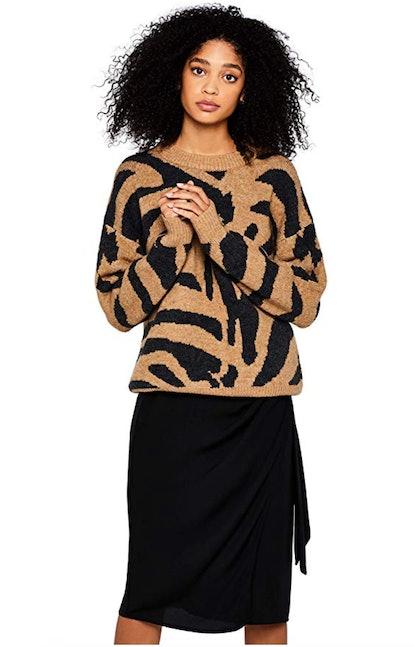 find. Women's Drop Shoulder Tiger Sweater