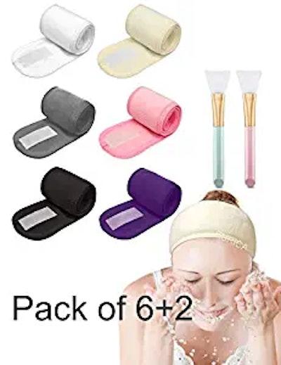 EURICA Spa Headband Hair Wrap (6-Pack)