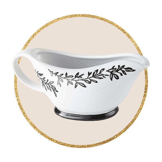 JCPenney Home Leaf Trimmed Gravy Boat