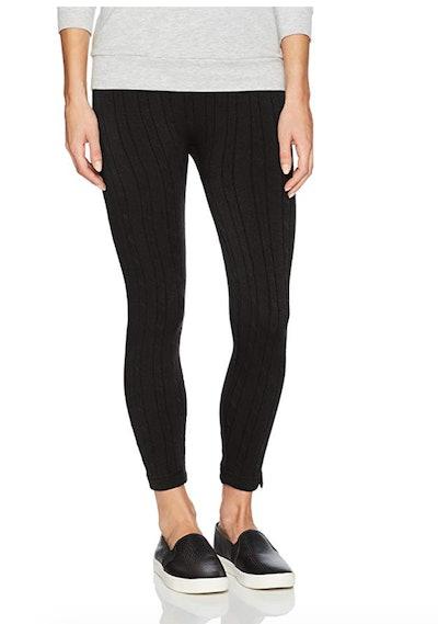 MUK LUKS Women's Cable Knit Fleece Lined Leggings