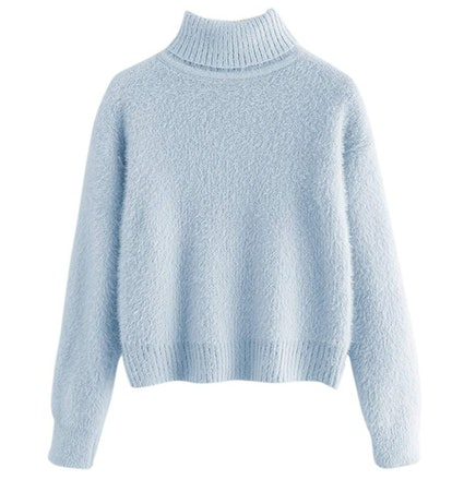 Milumia Women Crop Turtleneck Sweaters