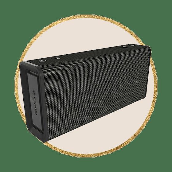 Brookstone Bluetooth Indoor/Outdoor Wireless Speaker with IPX5 Water Resistance