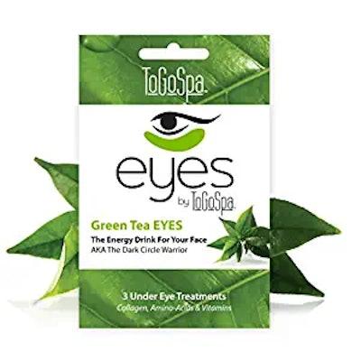 To Go Spa Green Tea Eyes (3-Pairs)