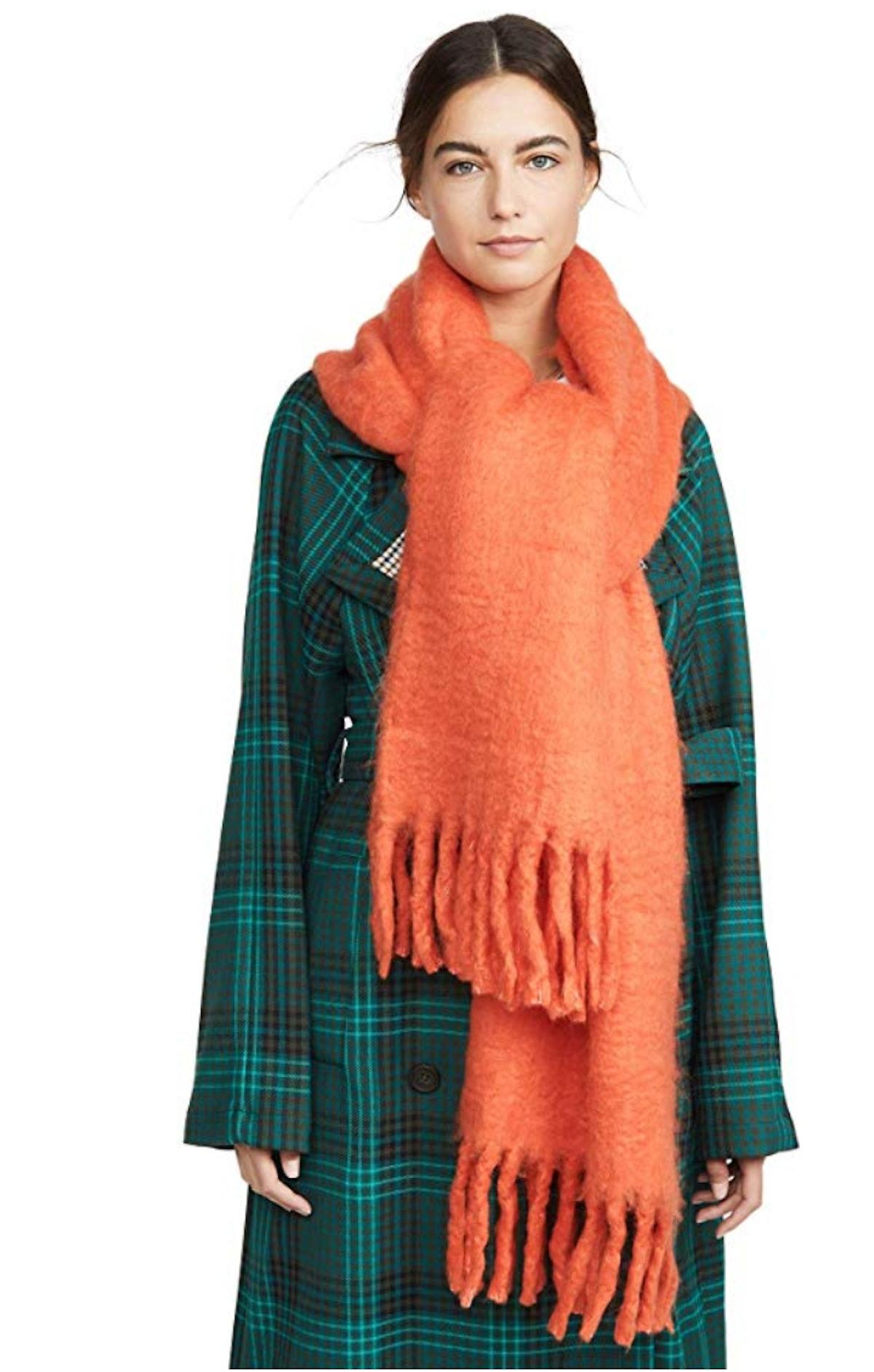 Rebecca Minkoff Women's Woven Blanket Scarf