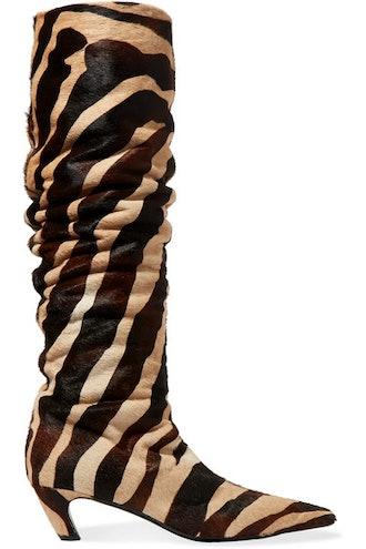 Calf Hair Ankle Boots