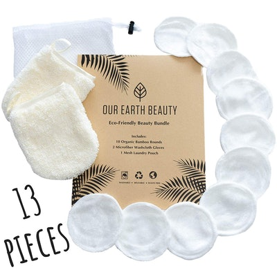 Our Earth Beauty Reusable Makeup Remover Pads (Set of 13)