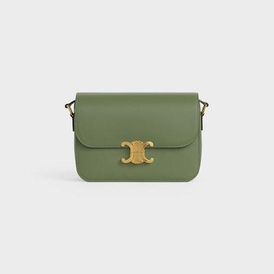Medium Triomphe Bag In Shiny Calfskin