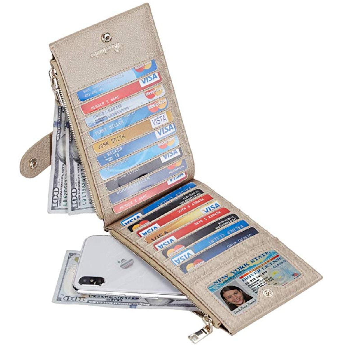 Travelambo Womens Walllet RFID Blocking Wallet