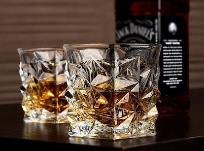 Diamond Whiskey Glasses (4-Set)
