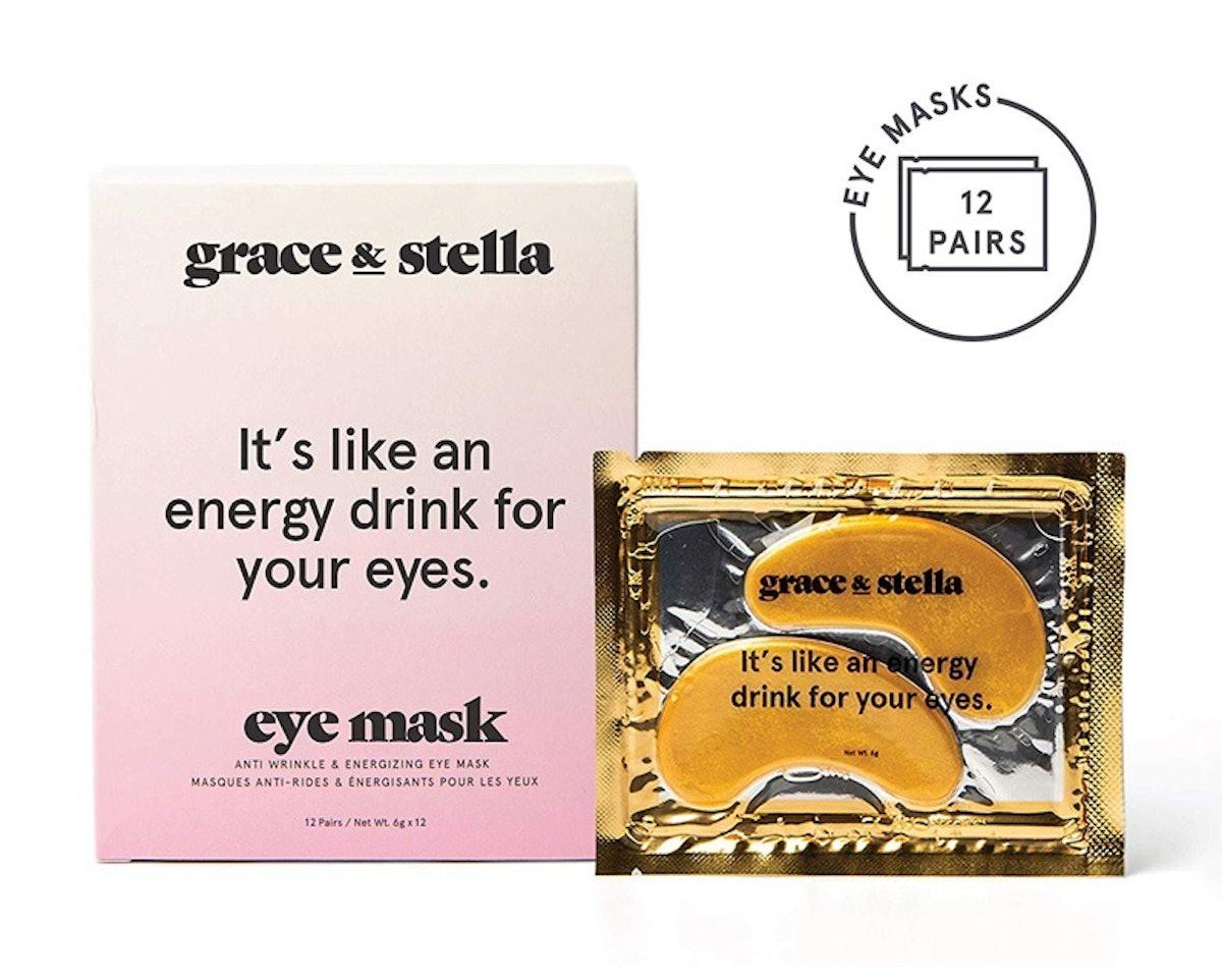 Grace & Stella Anti-Wrinkle + Energizing Gold Collagen Eye Masks (12 Pairs)