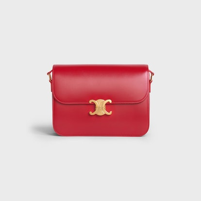 Large Triomphe Bag In Shiny Calfskin