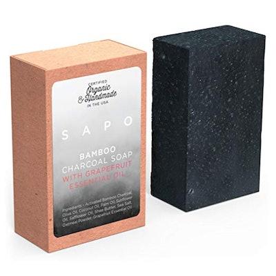 SAPO Bamboo Charcoal Soap Bar