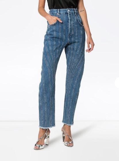 Seam-Detail Jeans