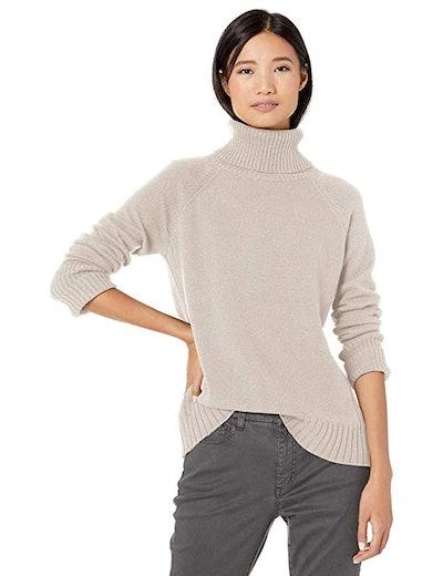 Goodthreads Women's Wool-Blend Turtleneck Sweater