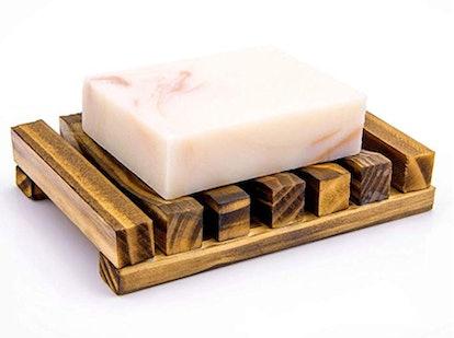 Awpeye Natural Wooden Soap Case Holder