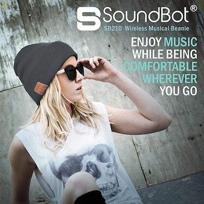 SoundBot Bluetooth 4.1 Wireless Smart Beanie Headset