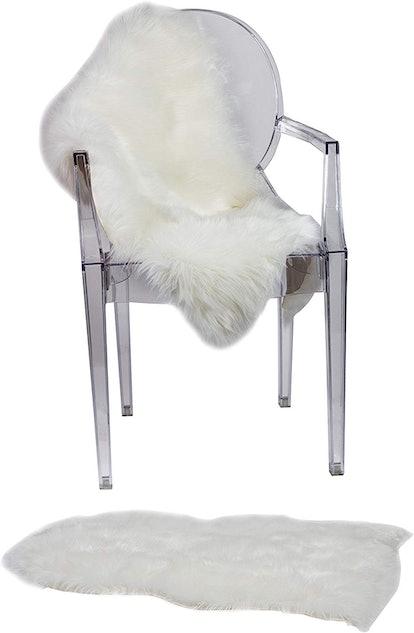 RUGLUSH Super Soft Faux Fur Chair Cover