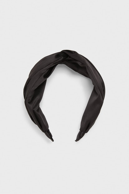 Satin Effect Headband With Knot