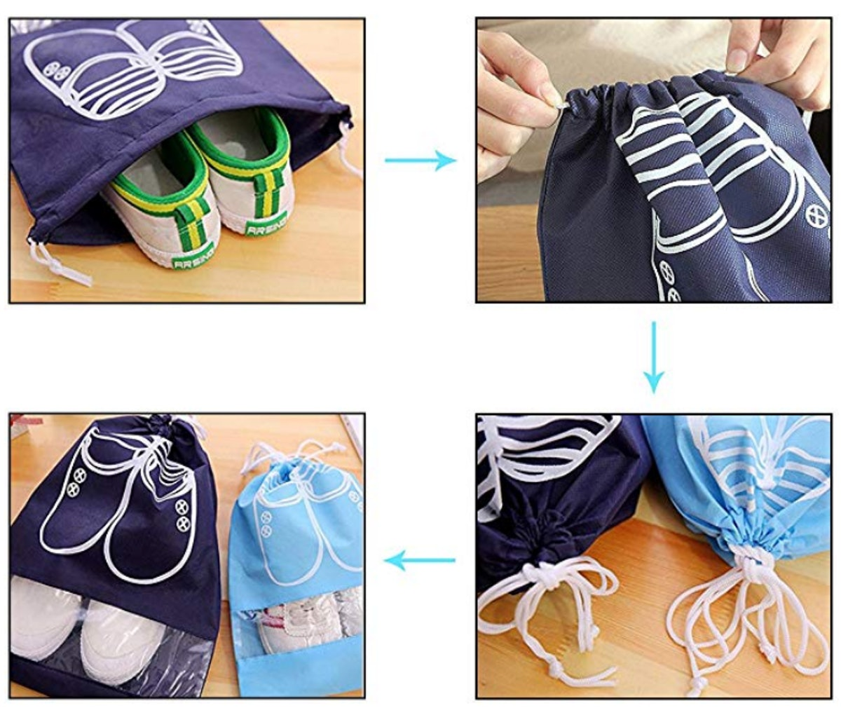 SPIKG Portable Travel Shoe Bags (10-Pack)