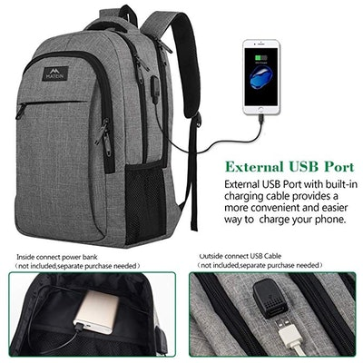 Matein Anti Theft Durable Laptop Backpack