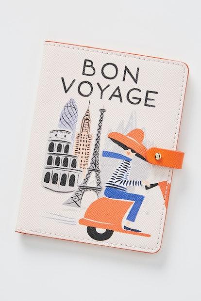 Rifle Paper Co. For Anthropologie Bon Voyage Passport Holder — Pink