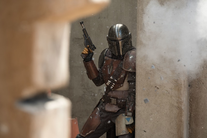 Pedro Pascal in the Disney+ series 'The Mandalorian,' which takes place after the events of 'Return of the Jedi'