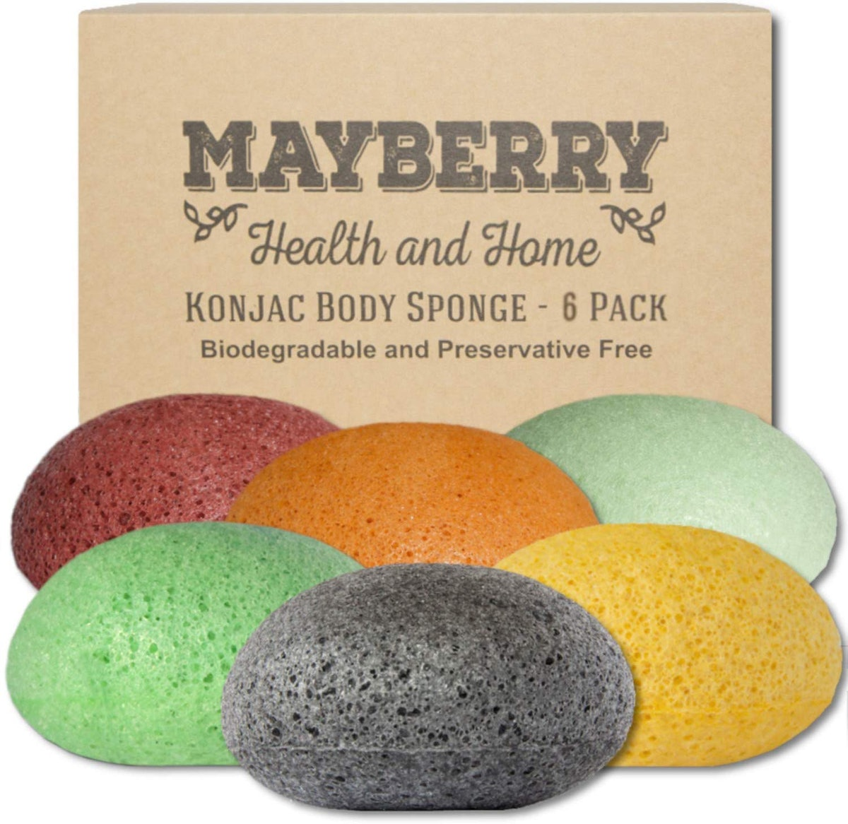 Mayberry Konjac Facial Sponges (6-Pack)