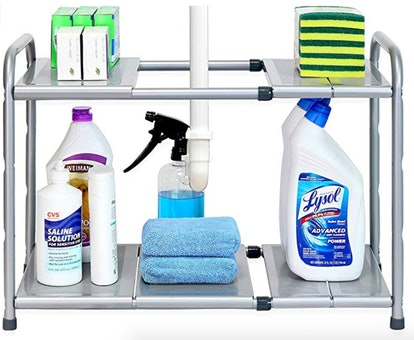 SimpleHouseware Under Sink 2-Tier Expandable Shelf Organizer