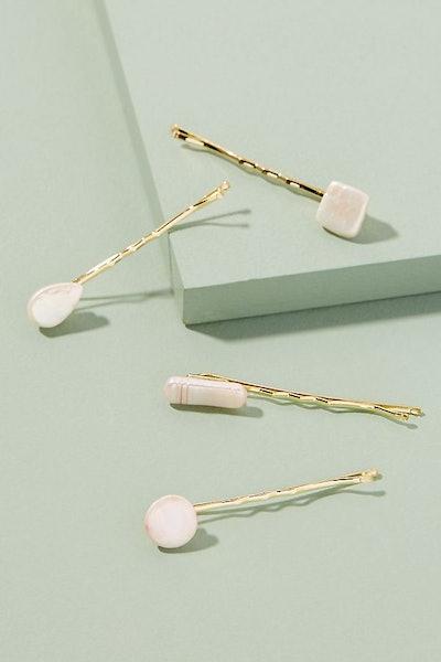 Freshwater Pearl-Embellished Hair Pin Set