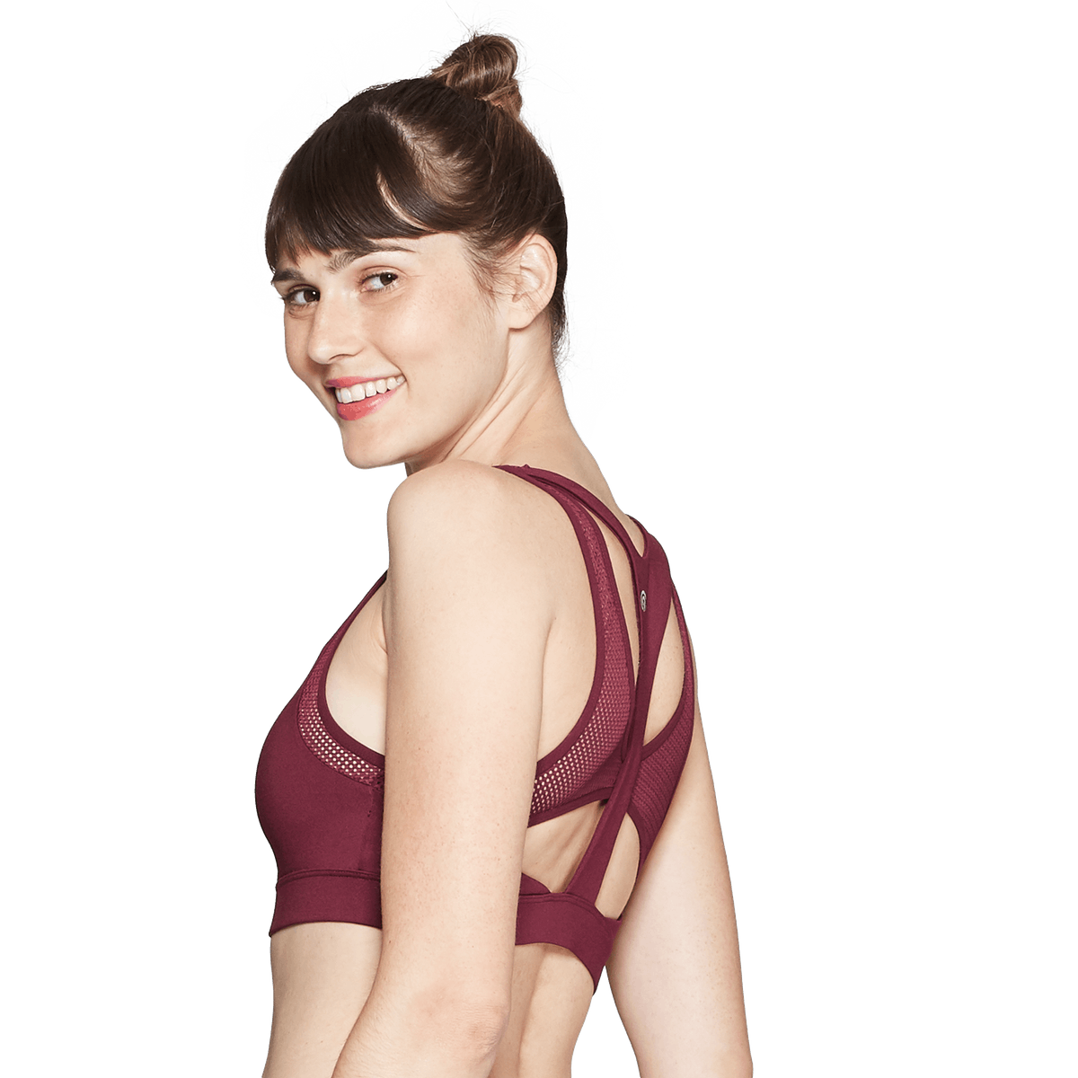 Women's High Neck Compressions Sports Bra — C9 Champion — Mulled Berry