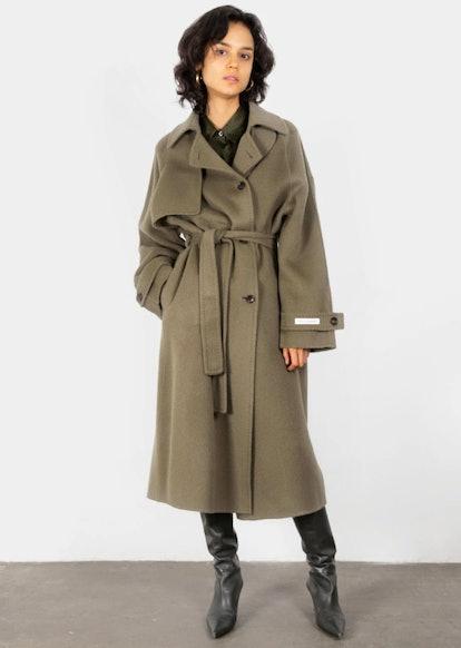 Taupe Alpaca Blend Coat