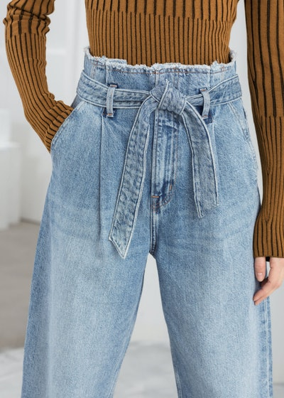 High Belted Organic Cotton Jeans