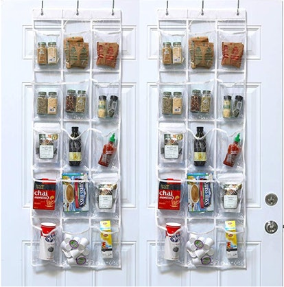 SimpleHouseware Clear Door Hanging Pantry Organizer