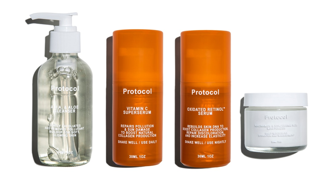 Four products from new skincare brand Protocol