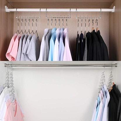 Meetu Magic Cloth Hanger Space Saving Hangers (4-Pack)