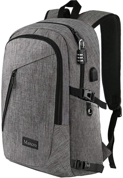 Mancro USB Charging Backpack