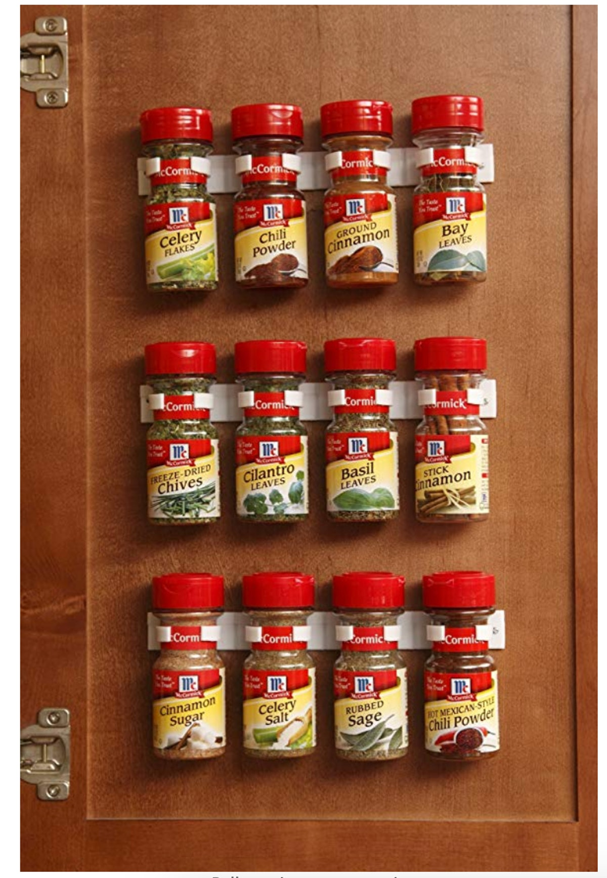 Bellemain Spice Gripper Clip Strips for Plastic Jars (3-Pack)