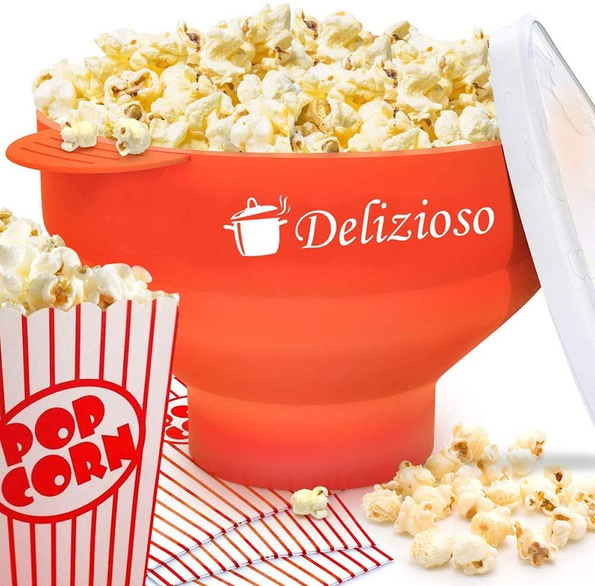 The Original Delizioso Microwave Popcorn Popper