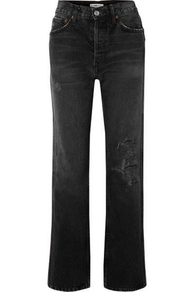Originals Distressed High-Rise Straight-Leg Jeans