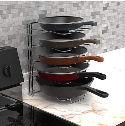 Kitchen Cabinet Pan and Pot Lid Organizer Rack Holder