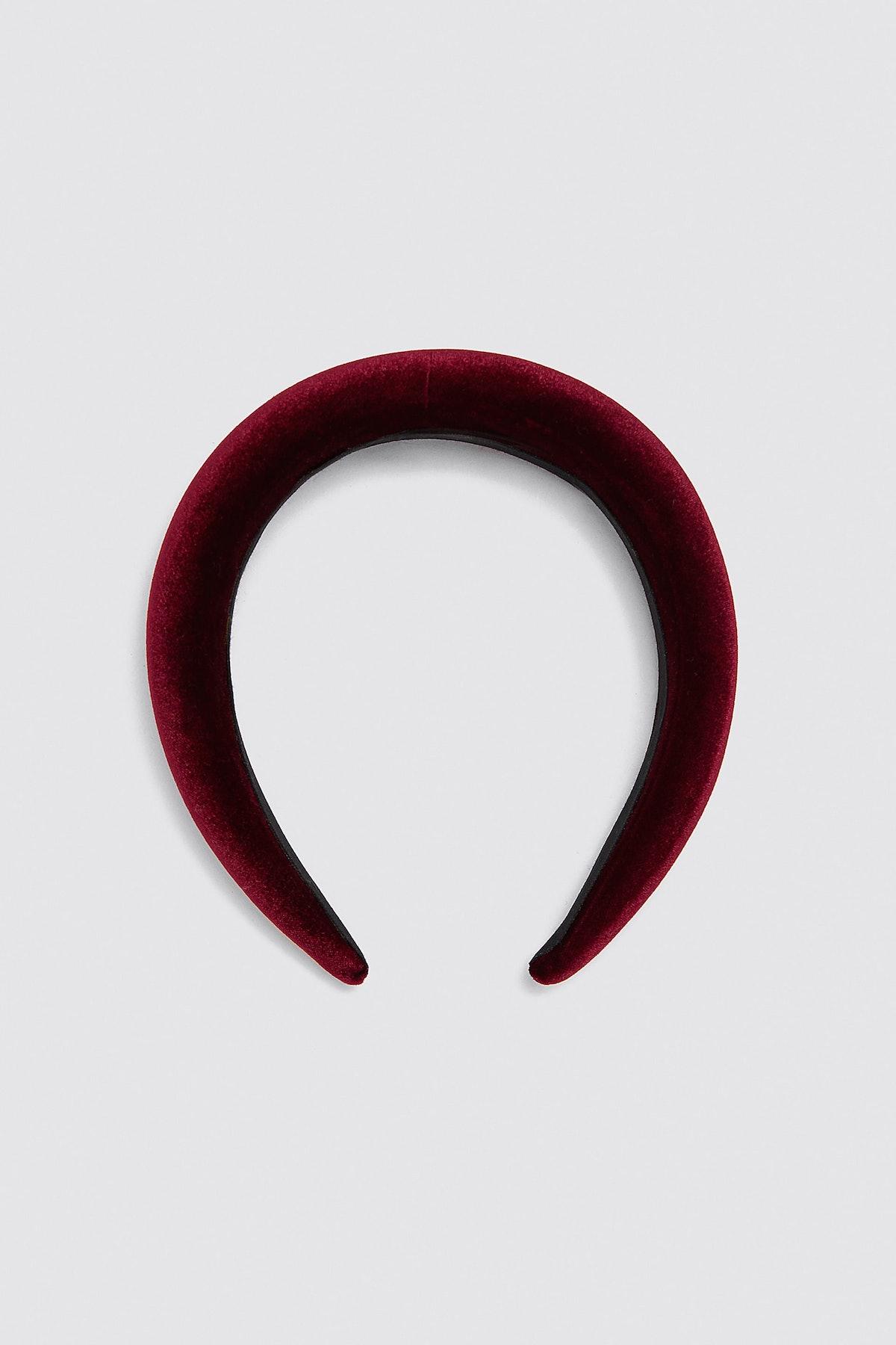 """Velvet Headband in """"Burgundy"""""""