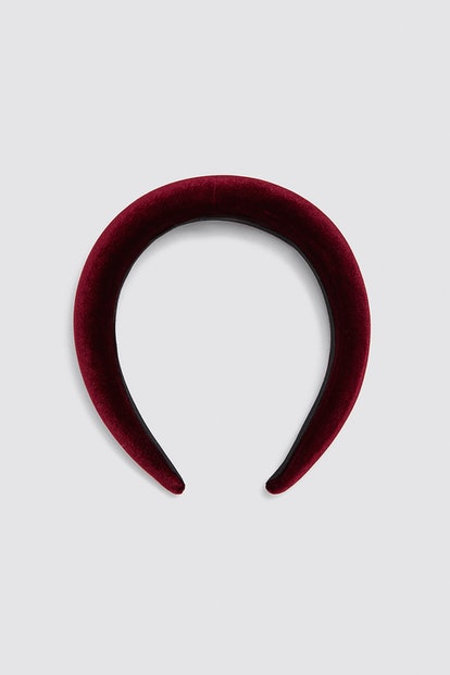 "Velvet Headband in ""Burgundy"""