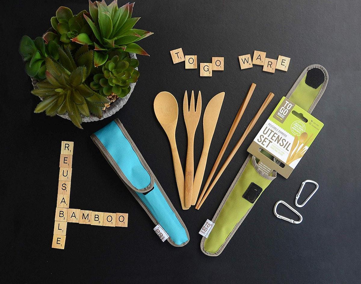 To Go Ware Reusable Bamboo Travel Utensil Set